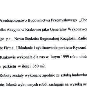 kurdziel referencje chemobudowa krakow